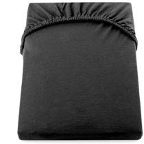 Čierna elastická bavlnená plachta DecoKing Amber Collection, 160&#xA...