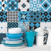 Sada 24 nástenných samolepiek Ambiance Wall Decal Cement Tiles Azulejos Ranjita, 1...