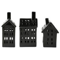 Sada 3 keramických dekoračných domčekov KJ Collection, v&#...