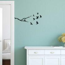 Dekoratívna samolepka na stenu v tvare s vtáčikom, 50&#xD7...