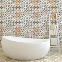 Sada 60 nástenných samolepiek Ambiance Wall Decal Cement Tiles Azulejos Vincinda, ...