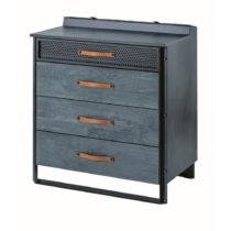 Sivá komoda Dark Metal Dresser