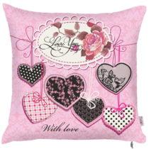 Ružová obliečka na vankúš Apolena Decorative, 43 x 4...