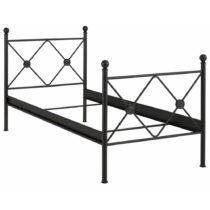 Čierna jednolôžková posteľ Støraa Johnson, ...