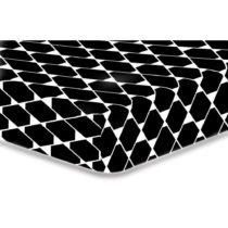Čierna elastická plachta z mikrovlákna DecoKing Rhombuses, 100...