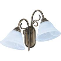 Dvojramenné nástenné svietidlo s modrým tienidlom Glimte Blue Dr...