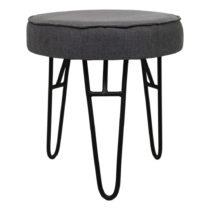 Tmavosivá stolička s látkovým poťahom HSM Collection ...