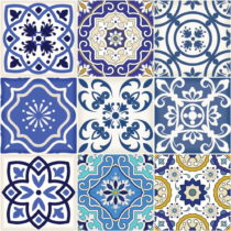 Sada 9 dekoratívnych samolepiek na stenu Ambiance Calypso, 15×...