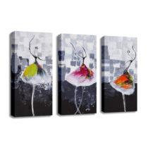3-dielny obraz na plátne Dancers