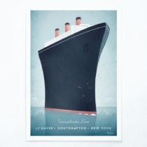 Plagát Travelposter Cruise Ship, A3