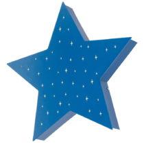 Modré nástenné svietidlo ve tvaru hvezdy Glimte Montu