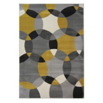 Koberec Flair Rugs Cocktail Cosmo Grey Ochre, 80 × 150 cm