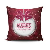 Vankúš Merry Christmas In White Ball, 45x45 cm