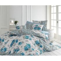 Bavlnené obliečky s plachtou na jednolôžko Blue Dream , 160 &a...
