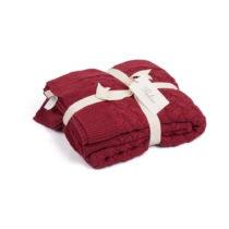Červená deka Harmony, 130×170 cm