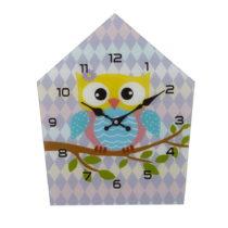 Nástenné sklenené hodiny Mauro Ferretti Owly