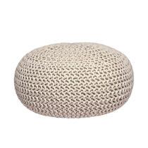 Krémovobiely pletený puf LABEL51 Knitted XL