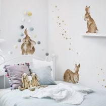 Sada 7 nástenných samolepiek Dekornik Happy Rabbits Wonderland