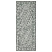 Sivo-zelený vzorovaný obojstranný koberec Bougari Curacao, 80&a...