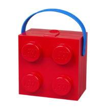 Červený úložný box s rukoväťou LEG...