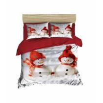 Sada obliečky a plachty na dvojposteľ Christmas Snowmen, 200×...