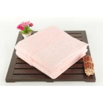 Sada 2 osušiek Tomur zo 100% bavlny Pink, 50x90 cm
