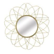 Nástenné zrkadlo v zlatej farbe Mauro Ferretti Amelie, ⌀ 81,5 cm