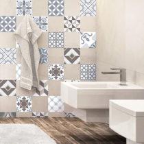 Sada 24 dekoratívnych samolepiek na stenu Ambiance Mosaic Portugal,10×&a...