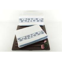 Sada 6 bielo-modrých uterákov Eyes, 30 x 50 cm