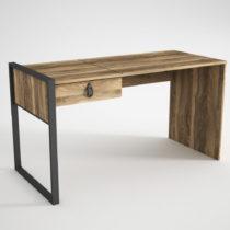 Pracovný stôl so zásuvkou v orechovom dekore Lost