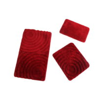 Set 3 červených kúpeľňových podlo&#x17E...