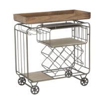 Servírovací vozík s úložným priestorom Mauro ...
