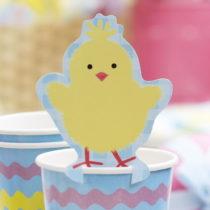 Sada 10 papierových dekorácií na poháre Neviti Easter Chick&...