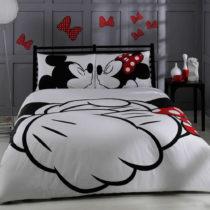 Bavlnené obliečky s plachtou na dvojlôžko TAC Mickey, 200&...