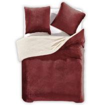 Tmavočervené obliečky z mikrovlákna DecoKing Teddy, 155&#x...