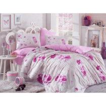 Ružové bavlnené obliečky s plachtou Matilde, 200 × 22...