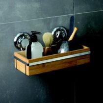 Bambusový držiak na kúpeľňové doplnky Compa...