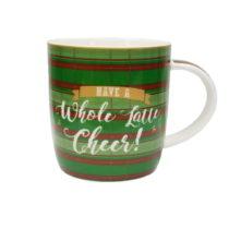 Hrnček z kostného porcelánu Silly Design Have a whole latte cheer, 320 m...