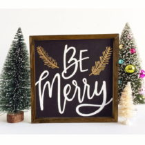 Obraz v ráme z borovicového dreva be Merry, 34 x 34 cm