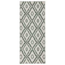 Zeleno-biely obojstranný koberec Bougari Rio, 80 x 250 cm