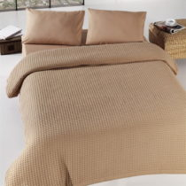 Hnedá ľahká prikrývka cez posteľ Burumcuk, 160&#x...