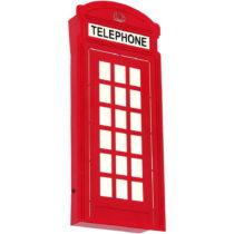 Červené nástenné svietidlo Glimte Sconce Arlet Telephone Booth ...