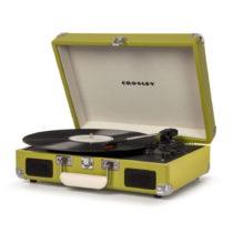 Zelený gramofón Crosley Cruiser Deluxe