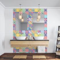 Sada 24 nástenných samolepiek Ambiance Wall Decal Cement Tiles Azulejos Emilifia, ...