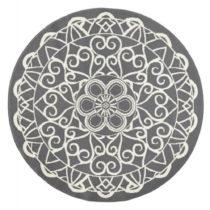 Sivý okrúhly koberec Zala Living Capri, ø200cm
