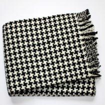 Čierny pléd s podielom bavlny Euromant Pearls, 140×1...