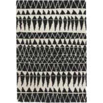 Čierno-biely koberec Mint Rugs Allure Black, 80 x 150 cm