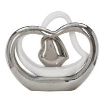 Bielo-strieborná keramická váza Mauro Ferretti Tresor