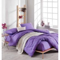 Set fialovej obliečky s plachtou na dvojlôžko Violette, 200 × ...