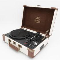 Béžovo-hnedý gramofón GPO Ambassador